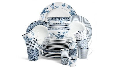 LAURA ASHLEY BLUEPRINT COLLECTABLES Porzellan Frühstücks-Geschirrset, 36-tlg. kaufen