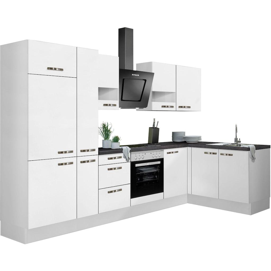 OPTIFIT Winkelküche »Cara«, ohne E-Geräte, mit Vollauszügen und Soft-Close-Funktion, Stellbreite 315 x 175 cm