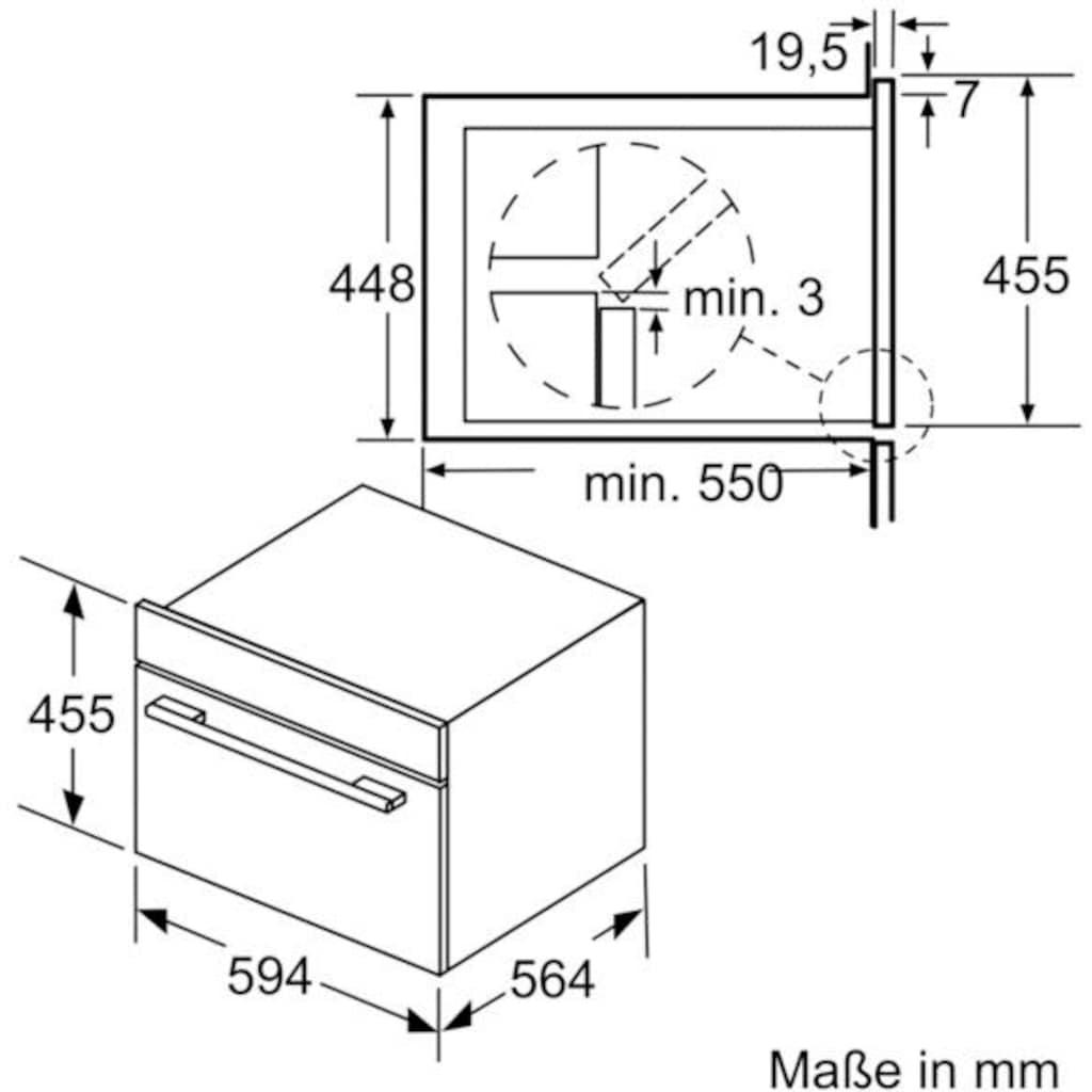 SIEMENS Einbau-Mikrowelle »CO565AGS0«, Dampfgarfunktion-Mikrowelle-Grill, 3000 W