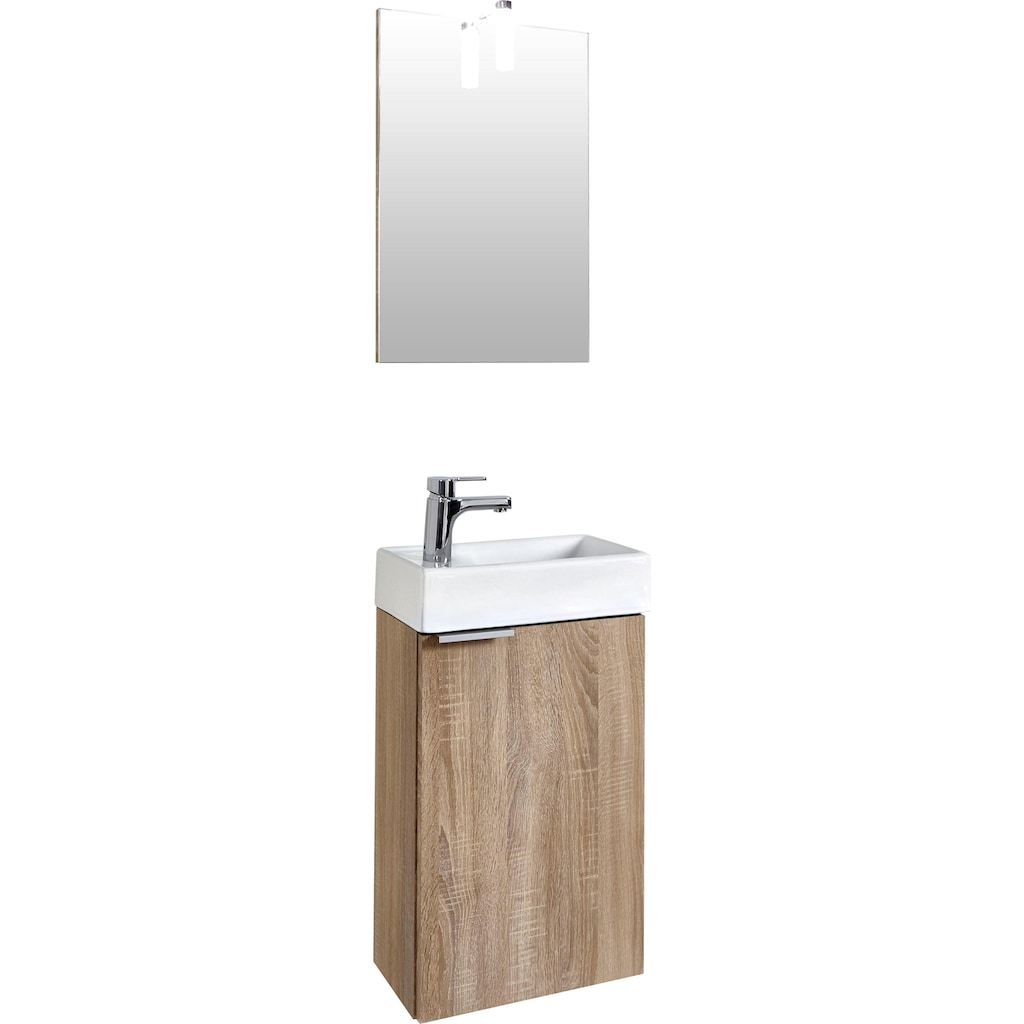 Homexperts Badmöbel-Set »Gizo«, (Set, 2 tlg.), mit LED-Beleuchtung, für Gäste-WC geeignet