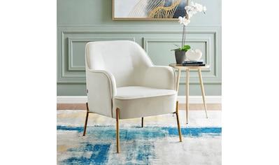 Leonique Sessel »Runa«, mit einem schönen pflegeleichten Samtvelours Bezug, in vier unterschiedlichen Farbvarianten, Sitzhöhe 44 cm kaufen