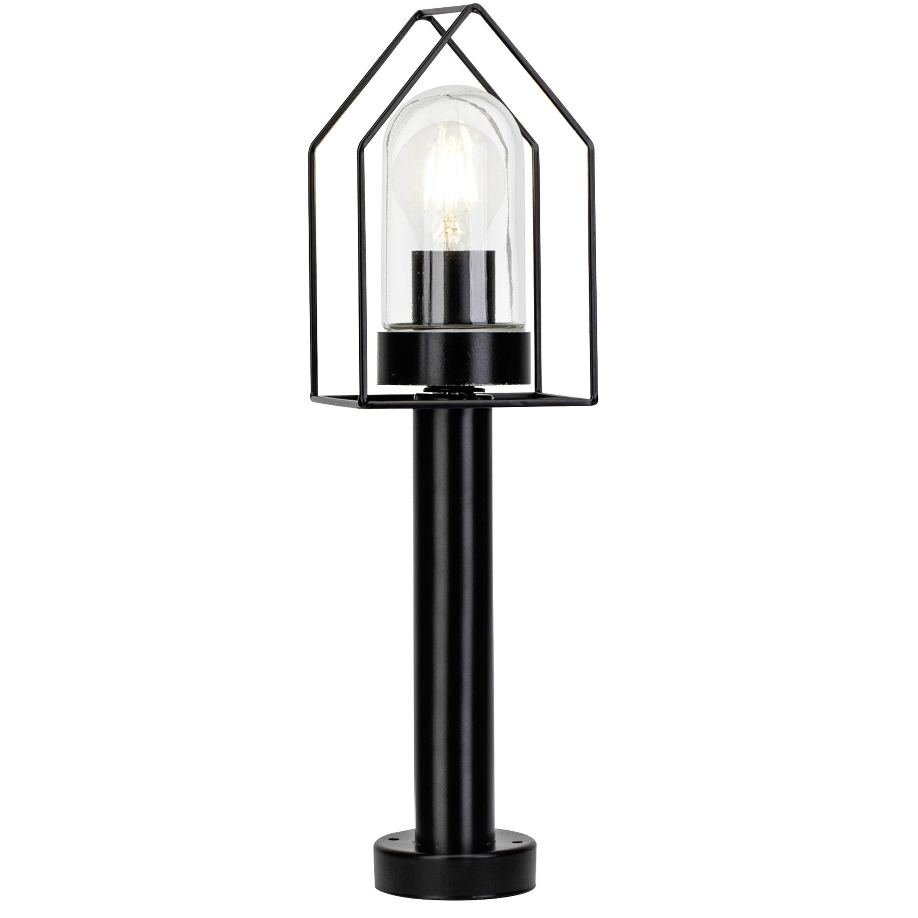 Brilliant Leuchten Home Außensockelleuchte schwarz/transparent