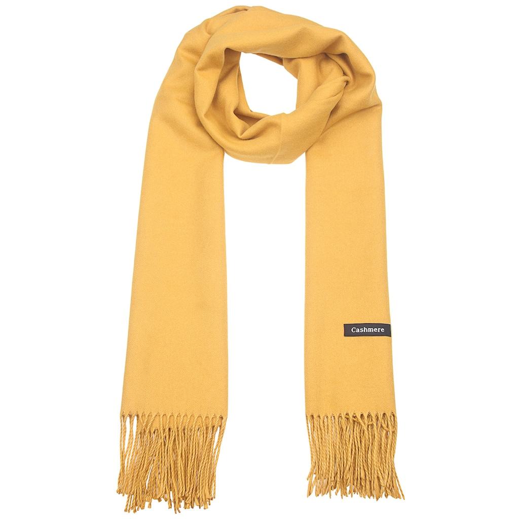 leslii Schal »Uni Look«, mit langen Fransen