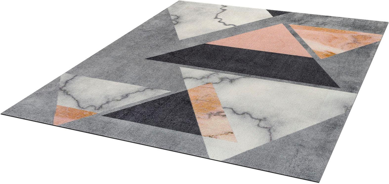 Teppich Velvet Marble wash+dry by Kleen-Tex rechteckig Höhe 9 mm gedruckt