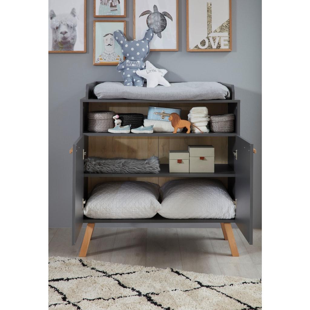 Babyzimmer-Komplettset »Toronto«, (Set, 3 St.), Bett, Wickelkommode und Schrank 3 türig
