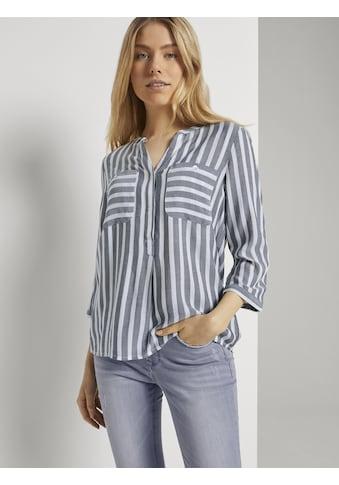 TOM TAILOR Hemdbluse »Gestreifte Bluse mit Taschen« kaufen