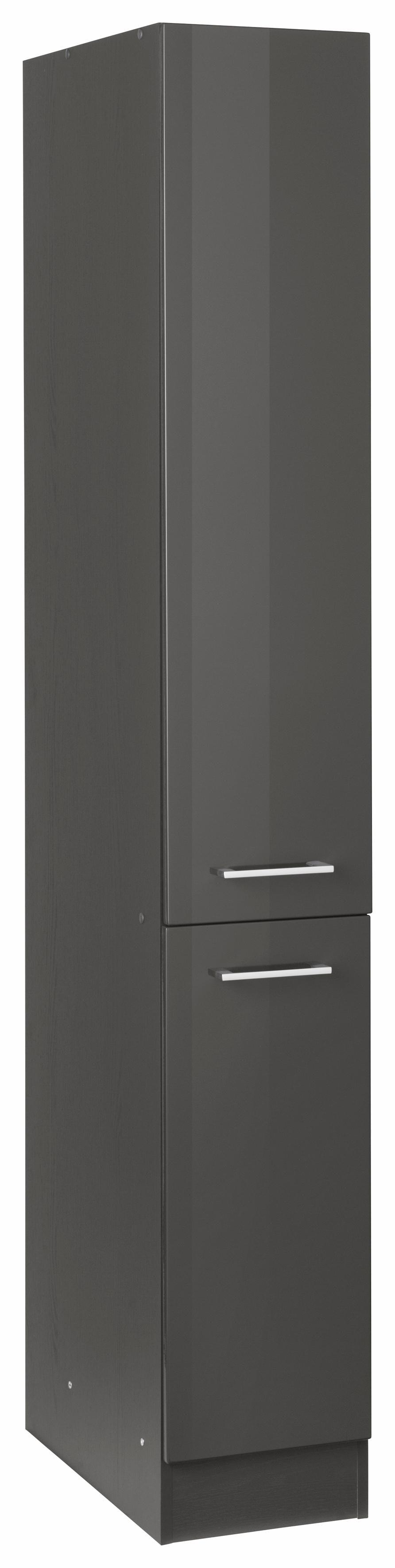 HELD MÖBEL Apothekerschrank Utah | Küche und Esszimmer > Küchenschränke > Apothekerschränke | Grau | Eiche | Held Möbel