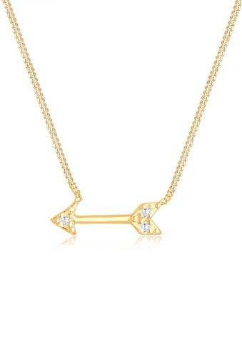 Elli Collierkettchen »Pfeil Amor Zirkonia 925 Sterling Silber« kaufen