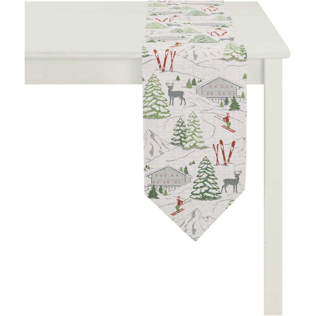 APELT Tischband »2503 Winterwelt, Gobelin«