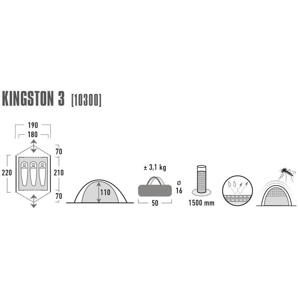 High Peak Kuppelzelt »Kingston 3«, 3 Personen, (mit Transporttasche)