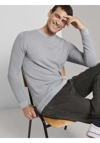 TOM TAILOR Strickpullover »Strukturierter Pullover im Washed-Look« kaufen