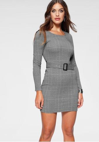 Melrose Jerseykleid, mit abnehmbarem Gürtel und Karo-Muster kaufen