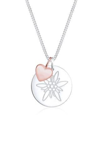Elli Collierkettchen »Edelweiss Herz Anhänger Bi - Color Wiesn 925 Silber« kaufen