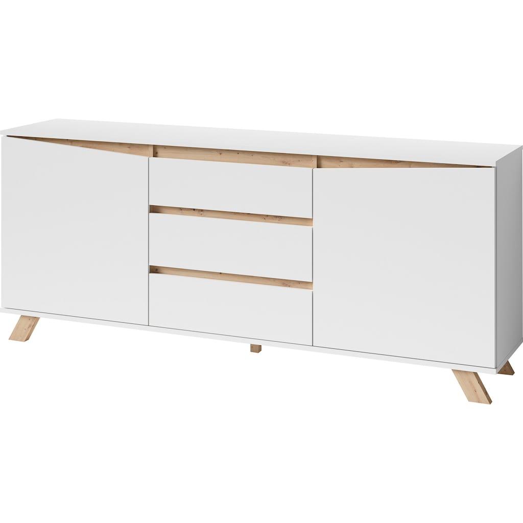 byLIVING Sideboard »Valentin«, Breite 160 oder 180 cm, in matt weiß