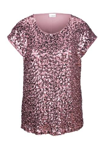 MIAMODA Shirt mit Pailletten bestickt kaufen