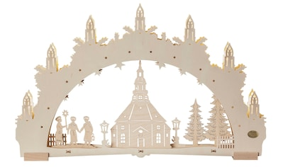 SAICO Original 3D - Lichterbogen Seiffener Kirche, 7flammige LED - Beleuchtung kaufen
