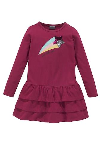 KIDSWORLD Jerseykleid, mit Pailletten und Glitzerdruck kaufen