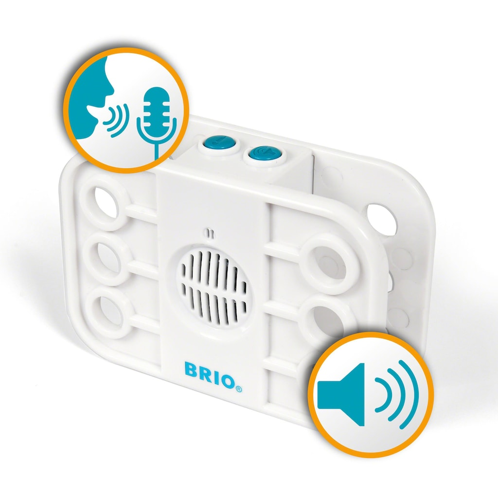 BRIO® Konstruktions-Spielset »Builder Record & Play Set«, (68 St.), FSC®-Holz aus gewissenhaft bewirtschafteten Wäldern