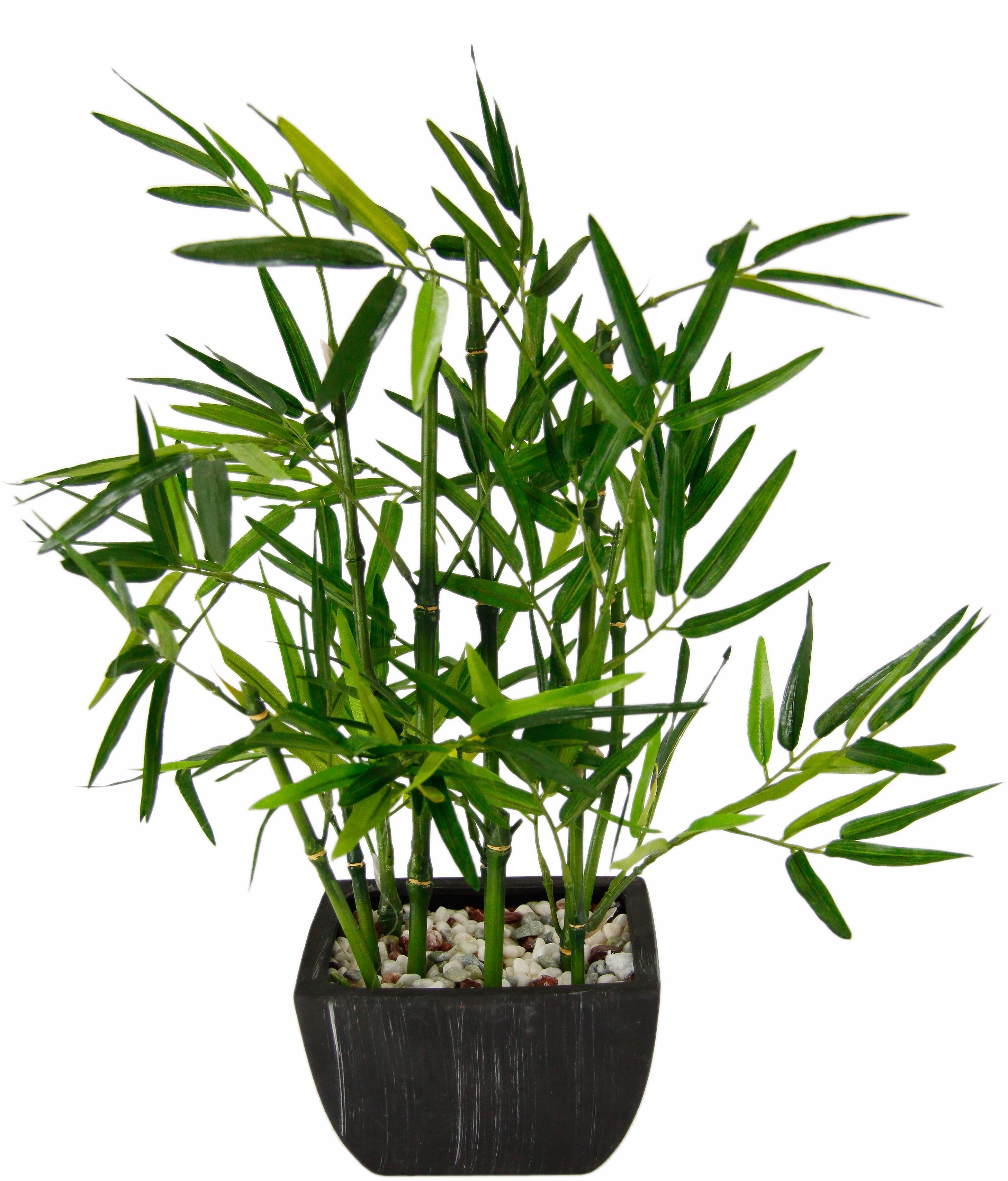 I.GE.A. Kunstpflanze Bambus (1 Stück) grün Zimmerpflanzen Pflanzen Garten Balkon Kunstpflanzen