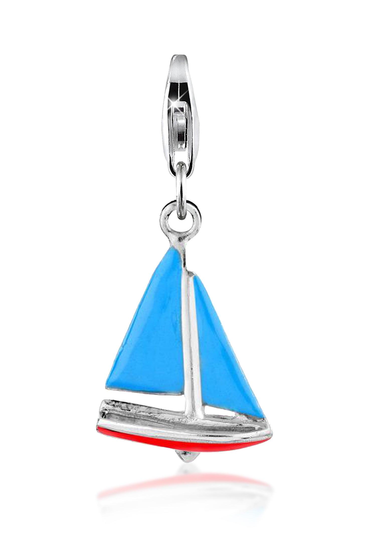 Nenalina Charm-Einhänger Segelboot Anhänger Maritim Basic Urlaub 925 Silber | Schmuck > Charms > Charms Anhänger | Nenalina