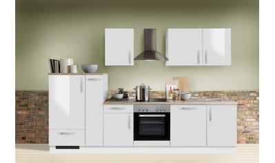 Menke Küchen Küchenzeile »White Premium«, Küchenzeile mit E-Geräten, Breite 310 cm kaufen