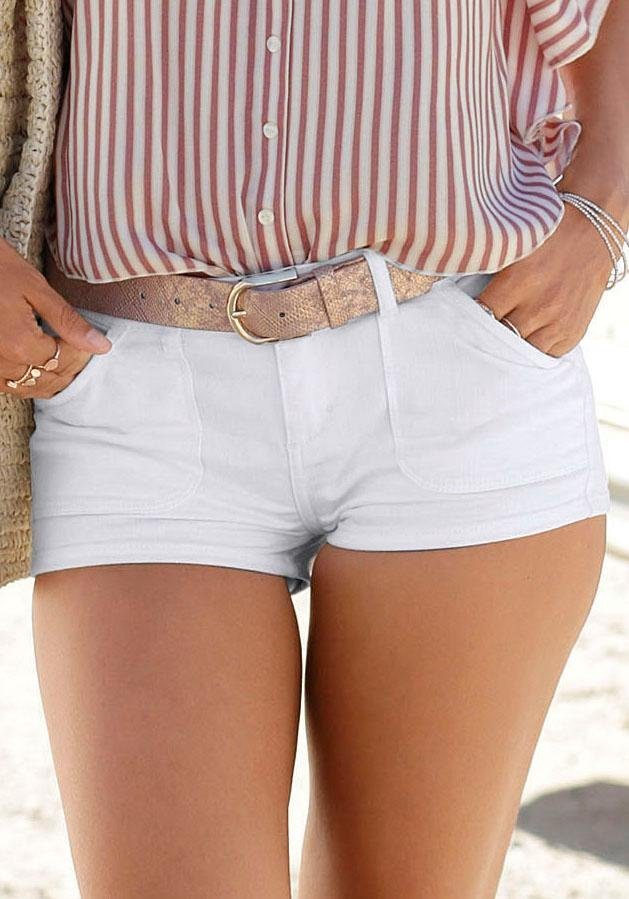 Buffalo Hotpants | Bekleidung > Hosen > Hotpants | Weiß | Buffalo