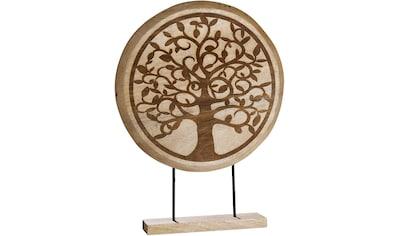 GILDE Dekoobjekt »Standrelief Lebensbaum«, Höhe 50 cm, aus Holz, Wohnzimmer kaufen