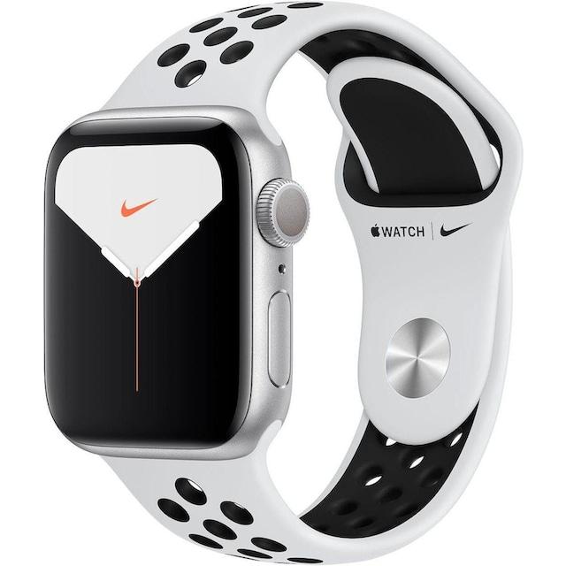 Apple Series 5 Nike GPS, Aluminiumgehäuse mit Nike Sportarmband 40mm Watch (Watch OS 6)