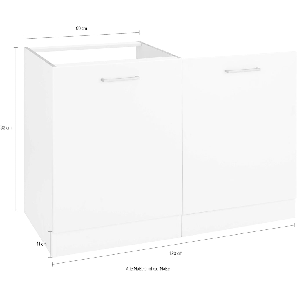 HELD MÖBEL Spülenschrank »Visby«, Breite 60 cm, inkl. Tür/Sockel für Geschirrspüler