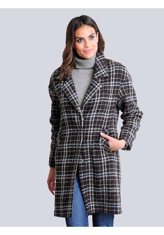 Alba Moda Wollmantel, im modischem Karo-Dessin kaufen