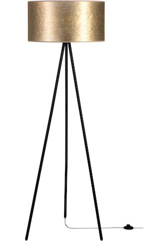 Leonique Stehlampe, E27, Hochwertiger Schirm aus Stoff, Basis aus Metall, passende LM E27/exklusive, Made in Europe kaufen