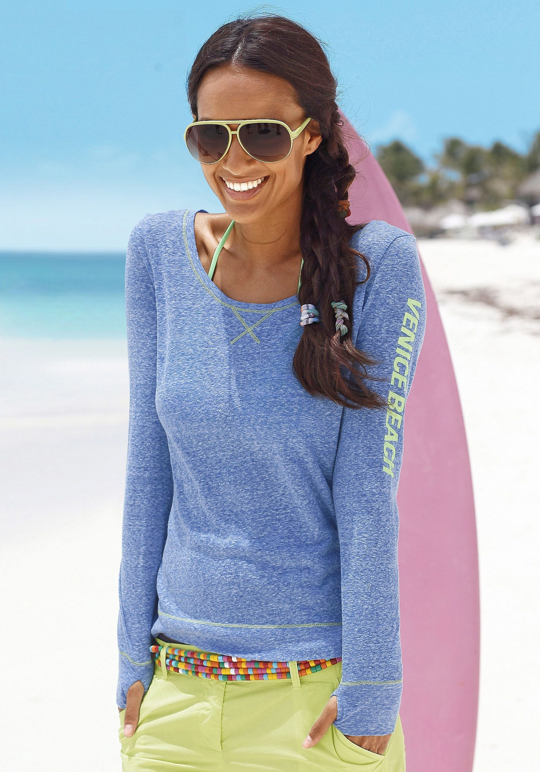 Venice Beach Langarmshirt | Bekleidung > Shirts | Blau | Venice Beach