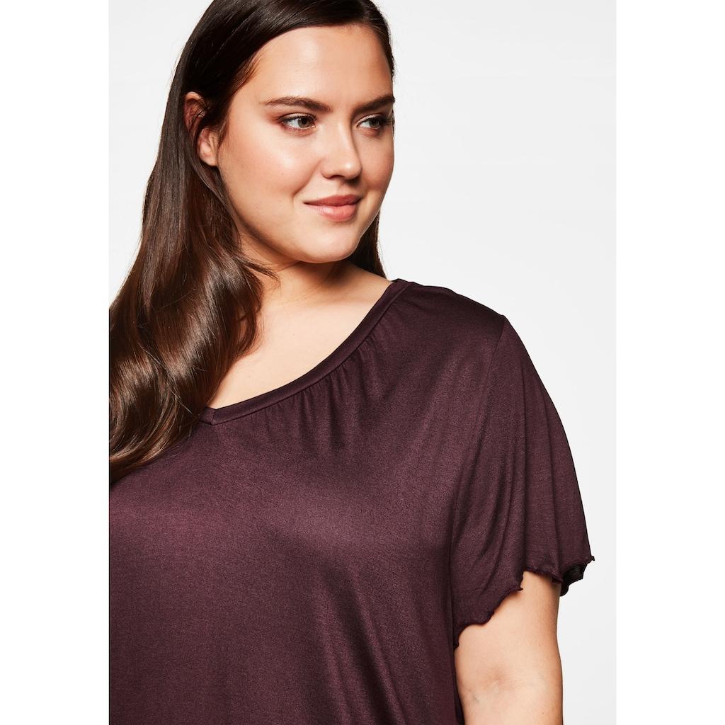 Sheego T-Shirt, mit Flügelärmeln