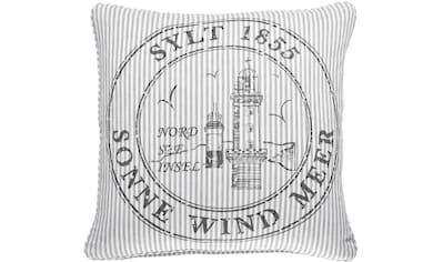 PAD Kissenhülle »OCEAN Sylt«, (1 St.), mit Themen-Schriftzug kaufen