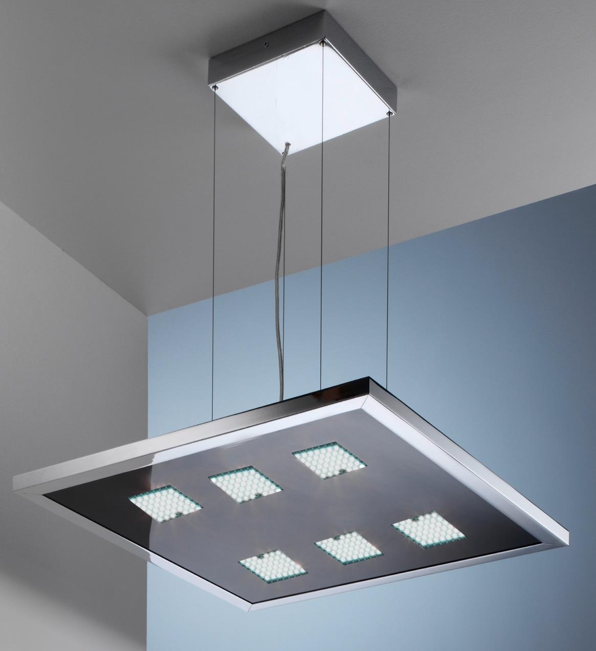 EVOTEC LED Pendelleuchte DESIGNLINE, LED-Board, Warmweiß-Neutralweiß-Tageslichtweiß, LED Hängelampe, LED Hängeleuchte, Farbwechsel