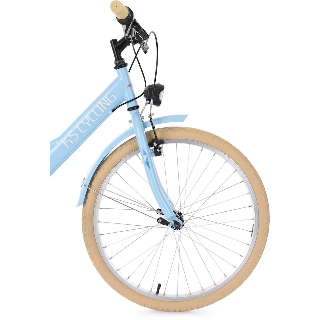KS Cycling Jugendfahrrad »Toskana«, 6 Gang, Shimano, Tourney Schaltwerk, Kettenschaltung