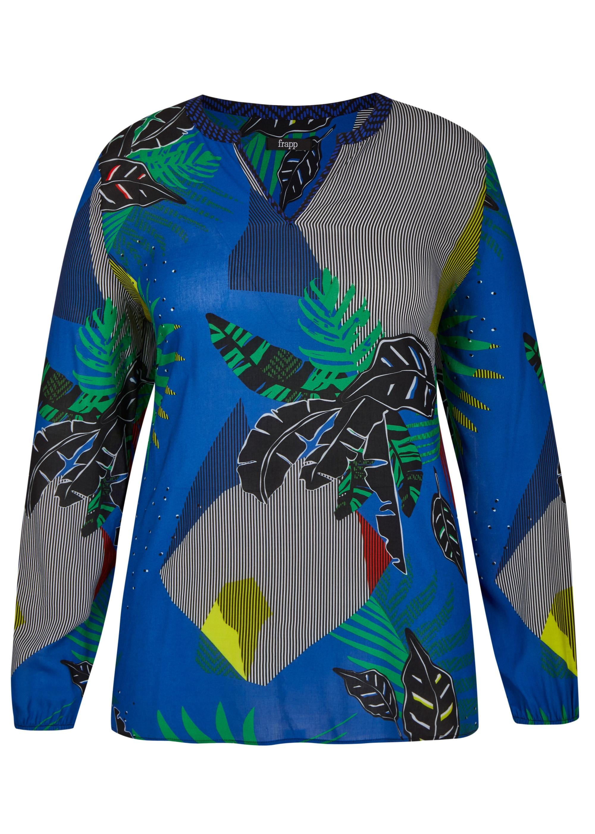 FRAPP Stilvolle Bluse mit floralem Mustermix