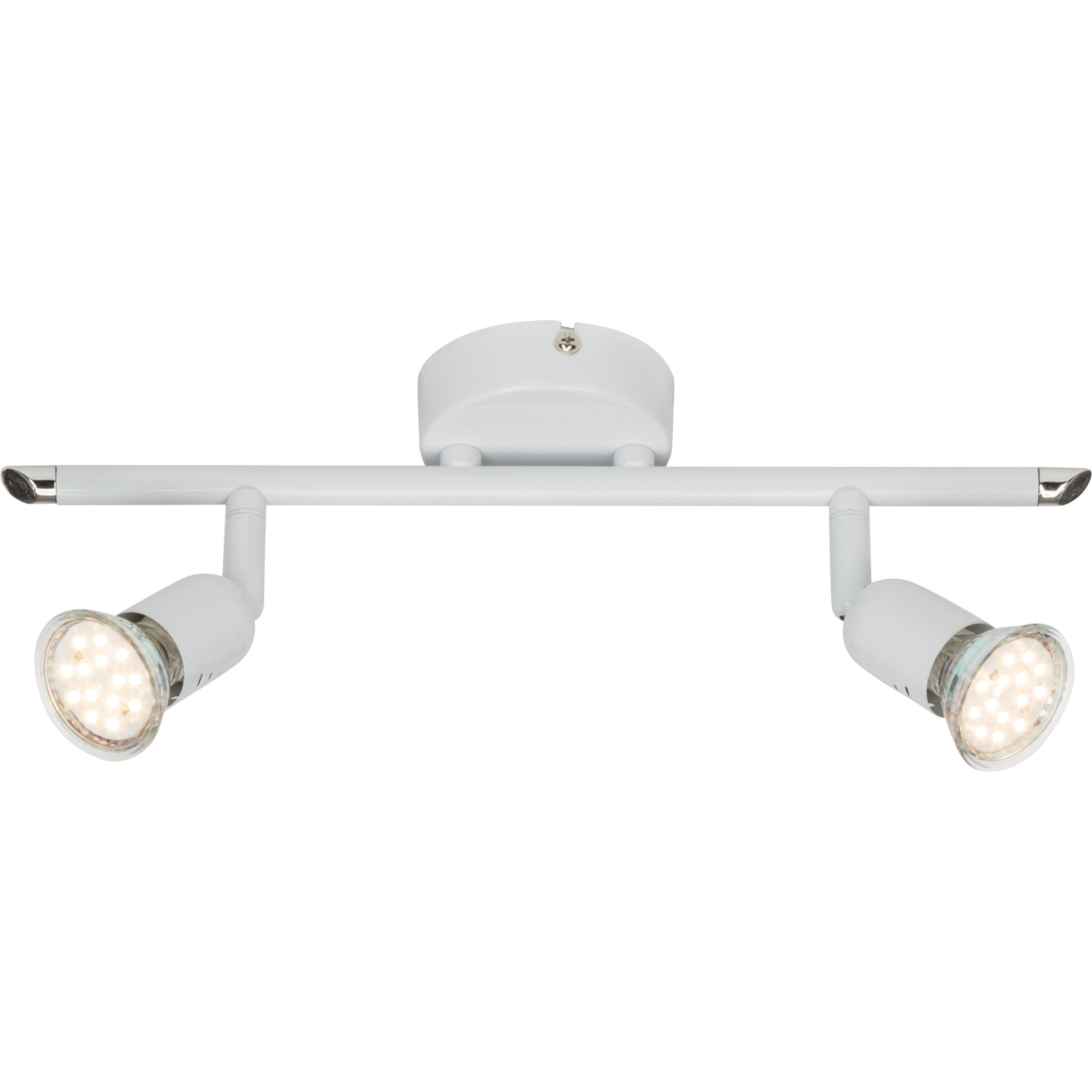 Brilliant Leuchten Loona LED Spotrohr 2flg weiß