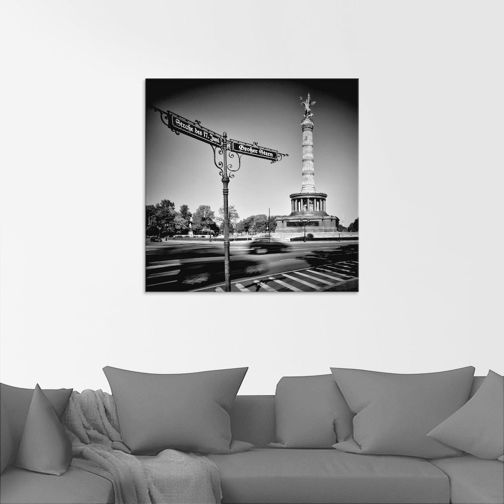 Artland Glasbild »Berlin Siegessäule III«, Gebäude, (1 St.)