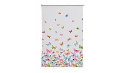 Home affaire Seitenzugrollo »Butterfly«, verdunkelnd, energiesparend, ohne Bohren, freihängend, Hitzeschutz kaufen