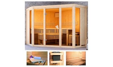 KARIBU Sauna »Akiko 2«, 231x231x198 cm, ohne Ofen kaufen