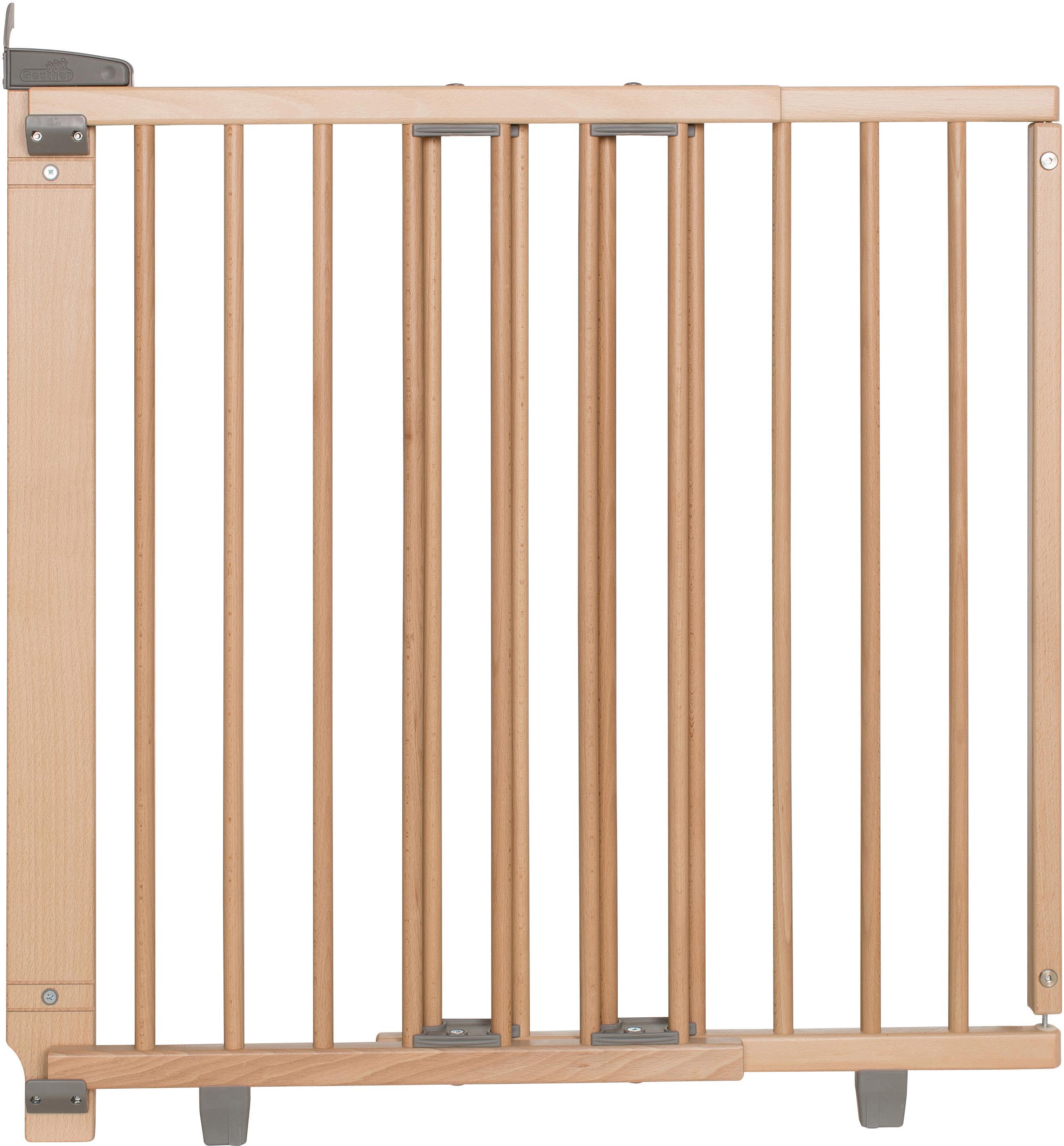 Geuther Treppenschutzgitter Plus natur 67-107 cm Kindermode/Ausstattung/Babygitter/Treppenschutzgitter