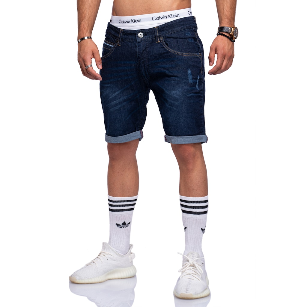 behype Shorts »TILL«, mit Used-Details