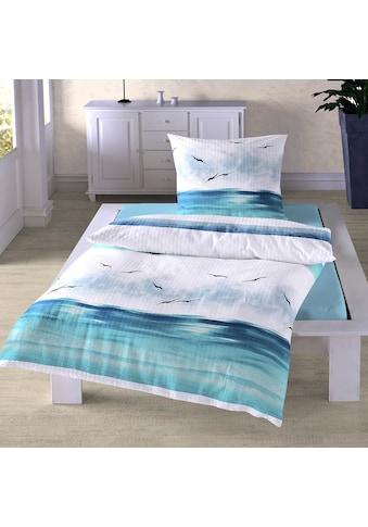 TRAUMSCHLAF Bettwäsche »Küstenbrise Ozean«, bügelfreie Seersucker Qualität kaufen