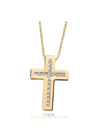 goldmaid Collier Gold 585 Kreuz Anhänger Lupenreine Brillanten kaufen