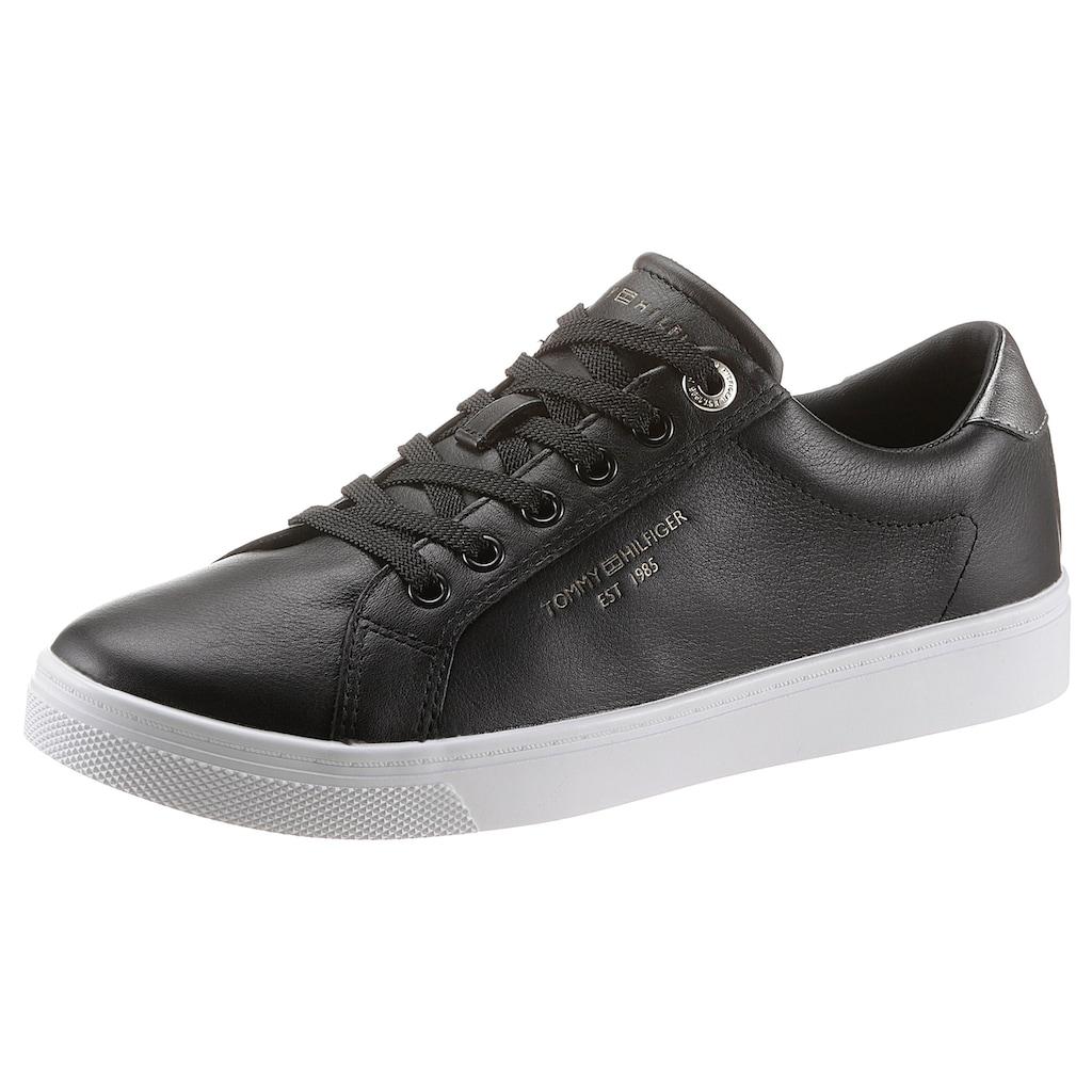 Tommy Hilfiger Sneaker »TH ICON CUPSOLE SNEAKER«, mit schimmernden Kontrastbesatz