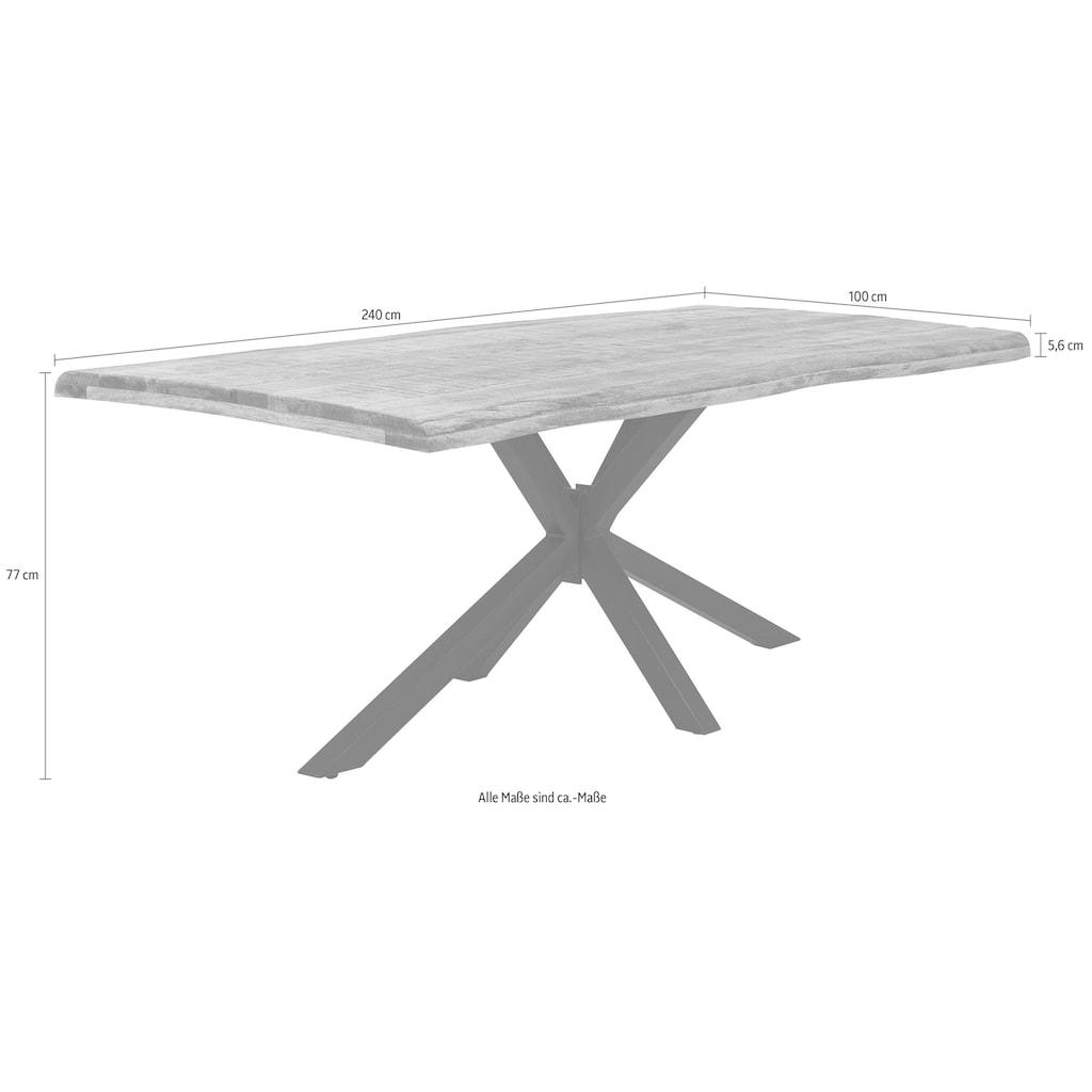 SIT Esstisch »Tops&Tables«, mit Baumkante wie gewachsen