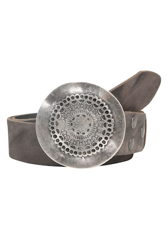 RETTUNGSRING by showroom 019° Ledergürtel »Wasserbüffel«, mit detaillierter Metallschließe kaufen
