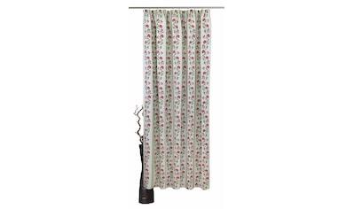 VHG Vorhang »Fanny«, Leinenoptik, Blume, Streifen kaufen