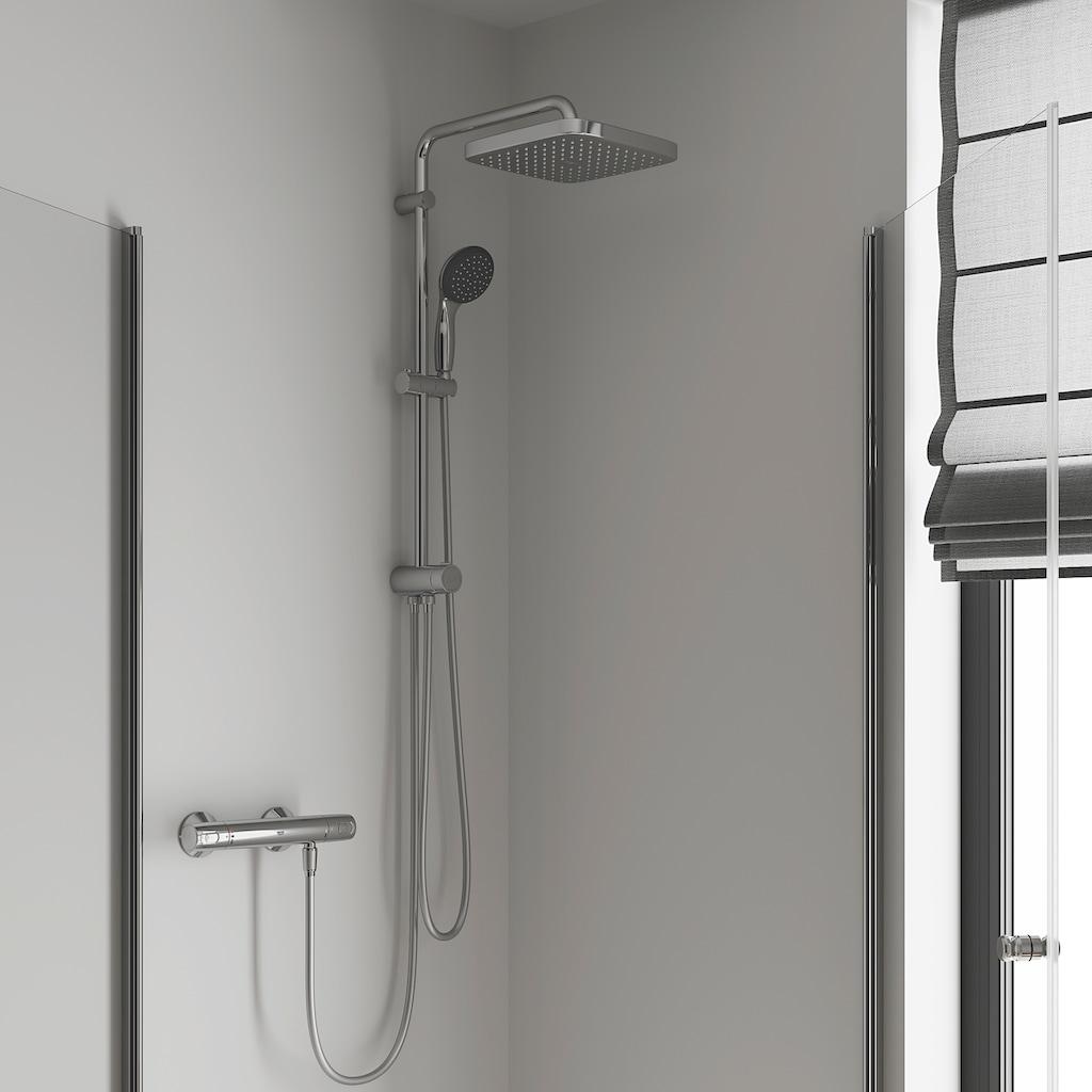 Grohe Duschsystem »Vitalio Start System 250 Cube Flex«, mit Umstellung für die Wandmontage